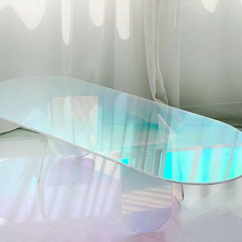 Acrylic Colorful Corner Fairy Tea Table Furniture Simple Coffee