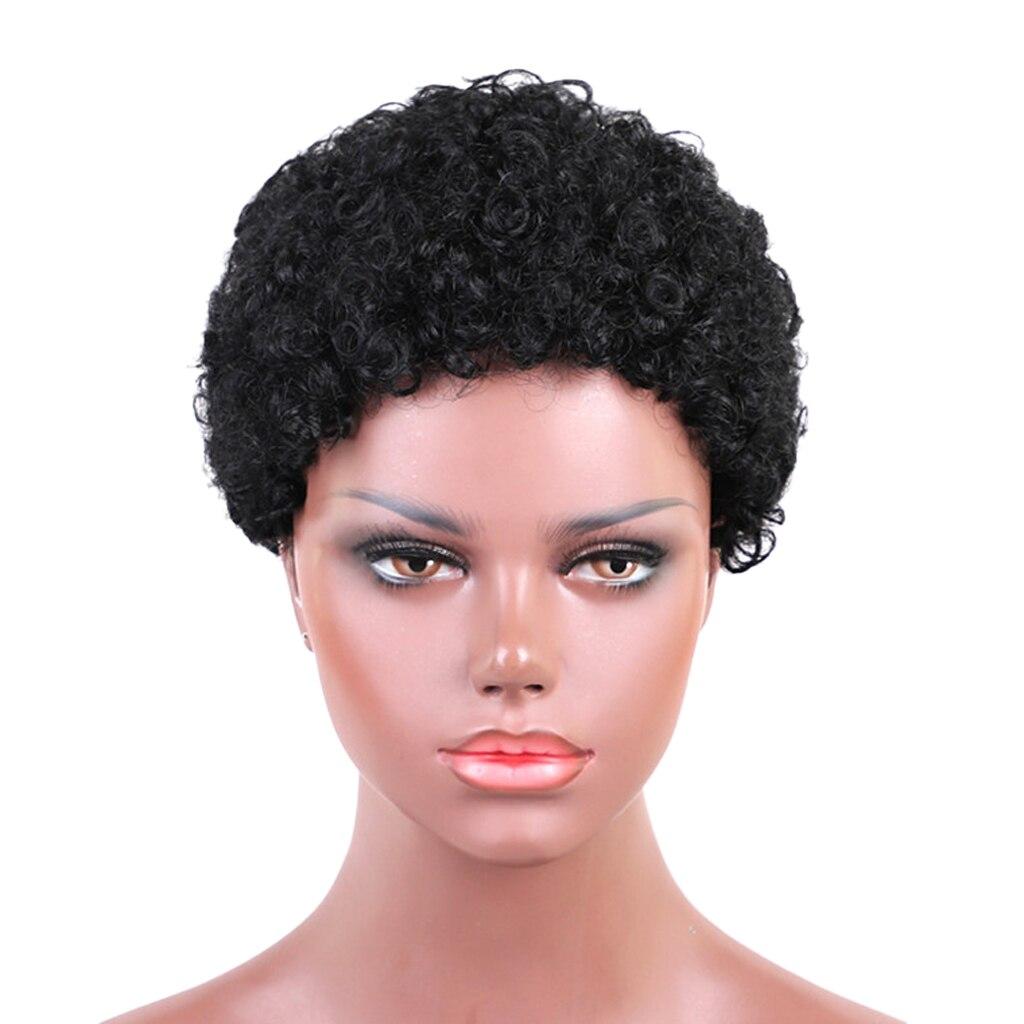 6 ''الأفرو غريب قصير شعر مستعار مجعد للنساء السود شعر طبيعي الباروكات الكاملة
