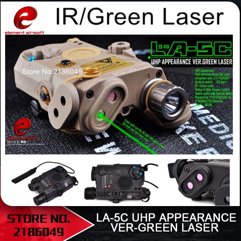 Element Airsoft Tactical Flashlight PEQ Green Laser LA-5C UHP IR Laser LED IR Laser LA5 softair tact