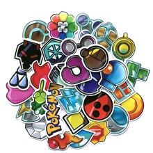 33 pièces Pokemon aller Gym Badge autocollant PVC étanche pour téléphone portable Cosplay Prop