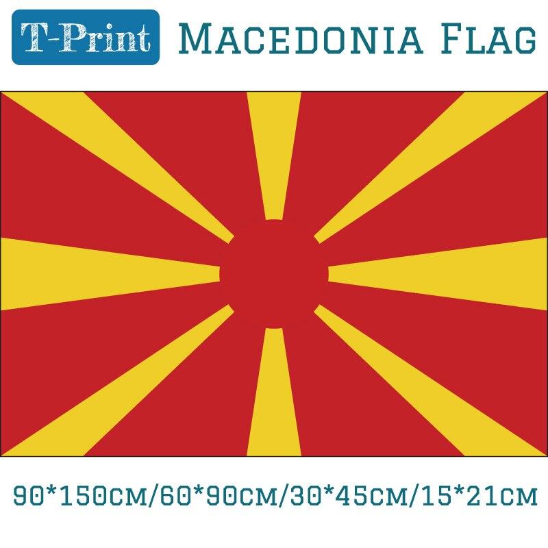 Voando Bandeira 3x5ft 90*150cm/60*90cm/15*21cm 30*45cm Macedónia Bandeira Do Carro Bandeira Nacional