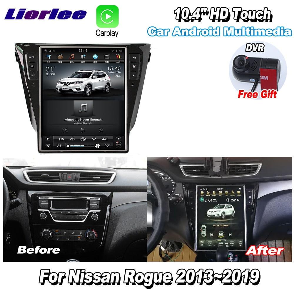 "Liorlee 12,1 ""HD Super pantalla para Nissan Rogue 2013-2019 Car Radio Android Carplay GPS Navi mapas Cámara de Navegación"