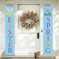 bunny flag couplet easter flag couplet creative home 1 pair of door couplet decoration happy flag door couplet decoration party