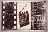 Plaque de Film en fer blanc  1 piece  Film de cinema  romance  drame  signe mural  decoration de grotte dhomme  affiche dart en metal  vintage  maison