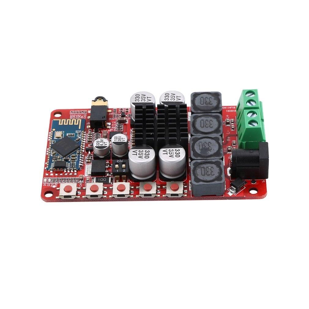 TDA7492P 50W+50W Power Amplifier Board CSR4.0 Wireless Digital Audio Receiving Receiver Amplifier Board HF18-A fx138 2 x 50w tda7492 digital power audio amplifier circuit board blue silver