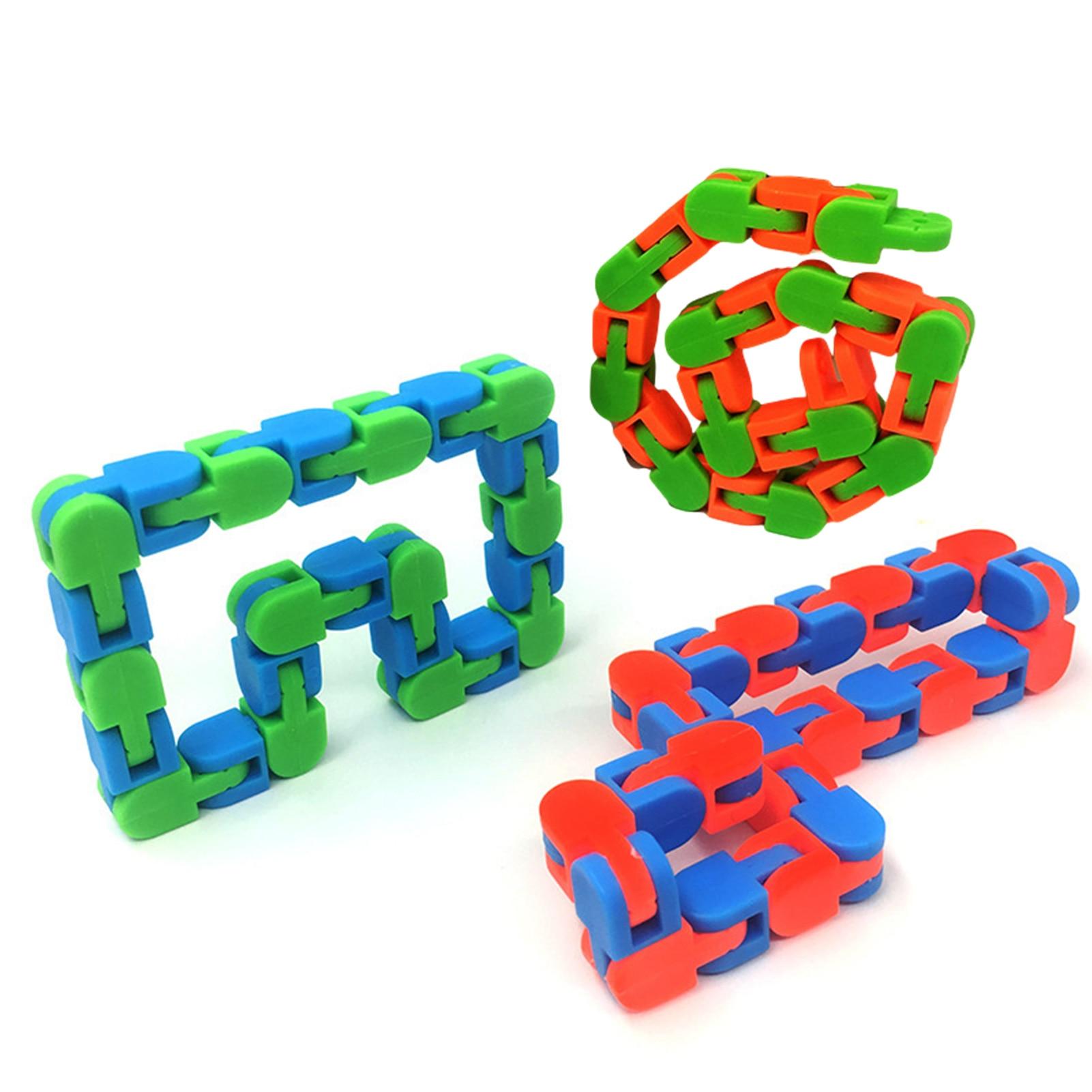 Мягкие треки, змея, пазлы, Классическая сенсорная игрушка, игрушки для снятия стресса, антистрессовые игрушки, игрушки для снятия стресса