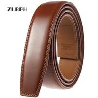 zlrph new male designer automatic buckle cowhide leather men belt famous brand belt luxury belts for men ceinture homme