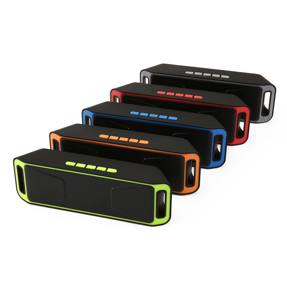 S208 Bluetooth Speaker Wireless Recharegable Stereo Loudspeakers USB Charging Mini FM Radio Multifunctional Sound Boombox