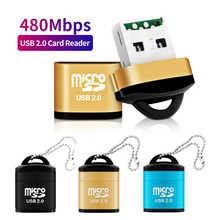 Высокоскоростной мини-картридер USB 2,0, картридер TF Micro SD, адаптер карты памяти для настольного компьютера, телефон, картридж Micro SD USB