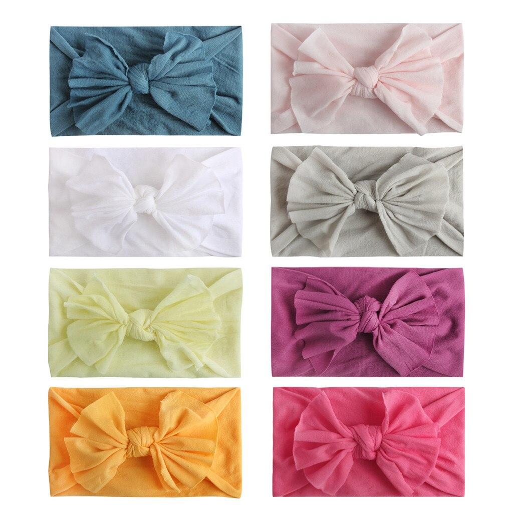 8 Uds de moda niñas bebé niño pequeño sólido Multi-color Unisex banda...