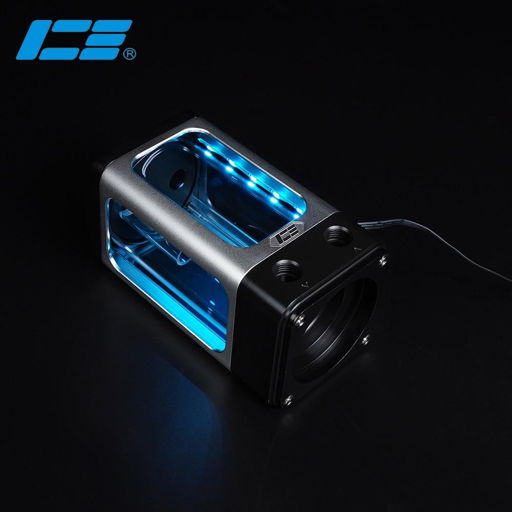 IceManCooler DX 120 Silver ARGB Reservoir D5 Pump Set ,Water Tank With Bracket ,+5V 3PIN Support AURA Motherboard DX5 120