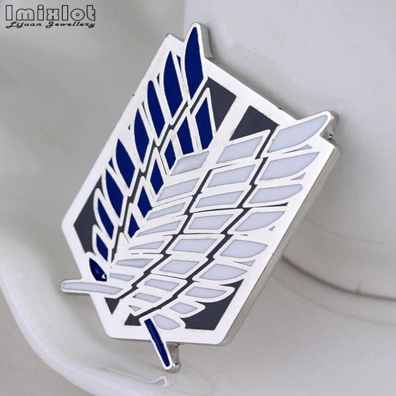 Шингэки No Kyojin Cabochon с отворотом, 4 цвета, черная, синяя эмаль, нашивка брошь Крылья Свободы, значки аниме