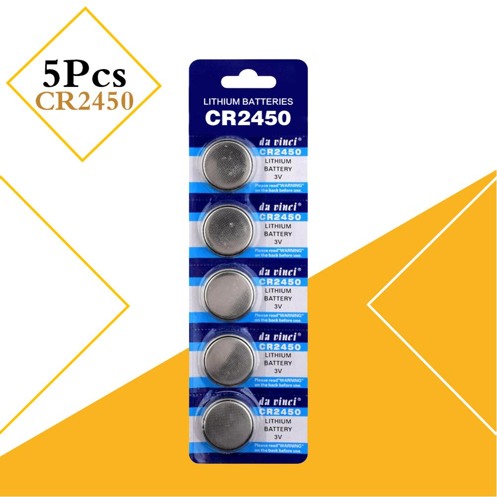 CR2450 Button Battery 5029LC KCR2450  LM2450 Cell Coin Lithium Battery 3V CR 2450 For Watch Electronic Toy Remote Car Key