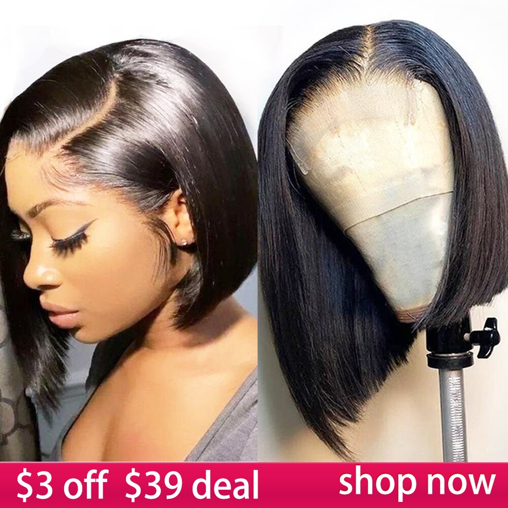 4x4 Lace Closure Bob Wig Human Hair Wigs 8