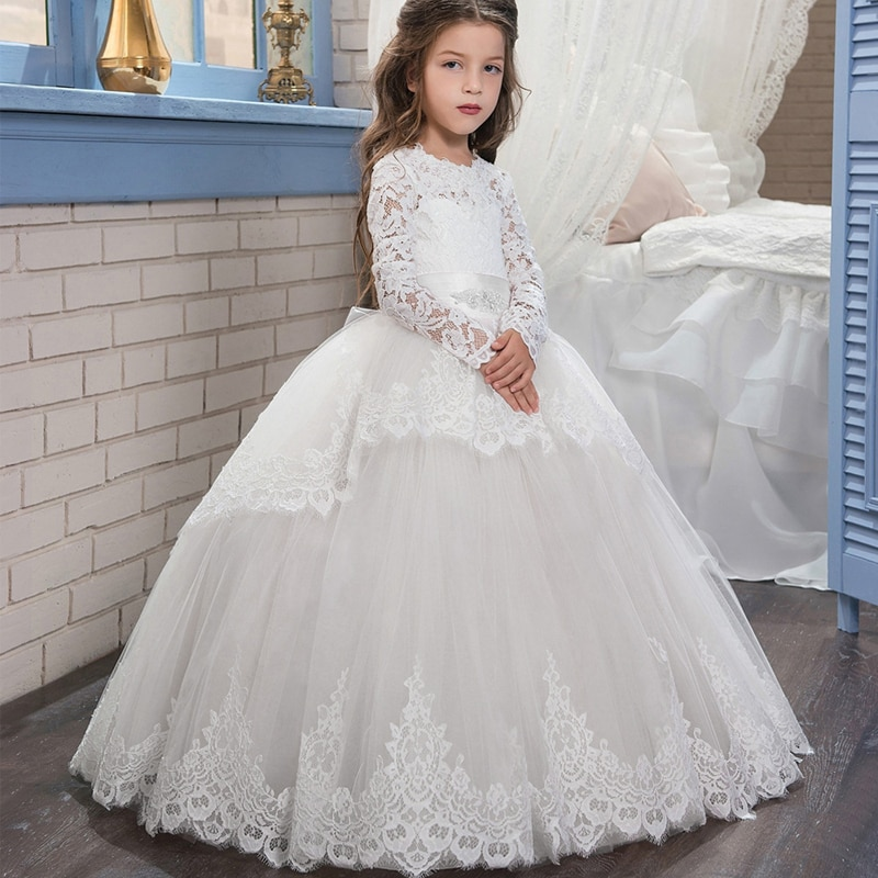 Vestido longo adolescentes para noivas, vestido de dama de honra para meninas, vestidos de princesa, sem costas, festa, vestido de noiva para crianças de 10 12 anos 2020