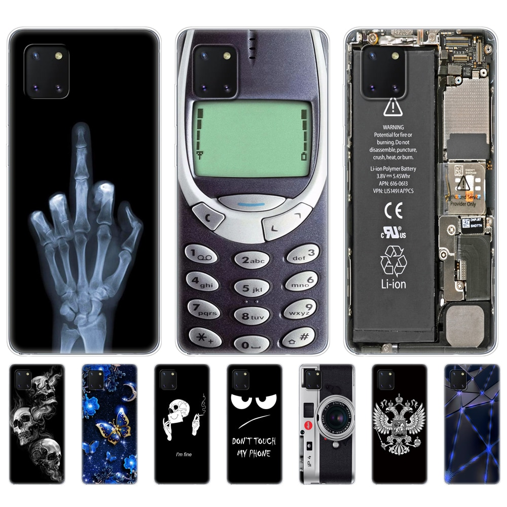 Чехол для Samsung Galaxy Note 10 Lite, чехол из ТПУ, чехол для Samsung Note 10 Lite n770, 6,7 дюйма, ударопрочный черный чехол
