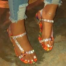 2020 nouvelle célébrité vent sandales femmes fond plat grande taille strass sandales explosion modèles sandales femmes zapatos de mujer