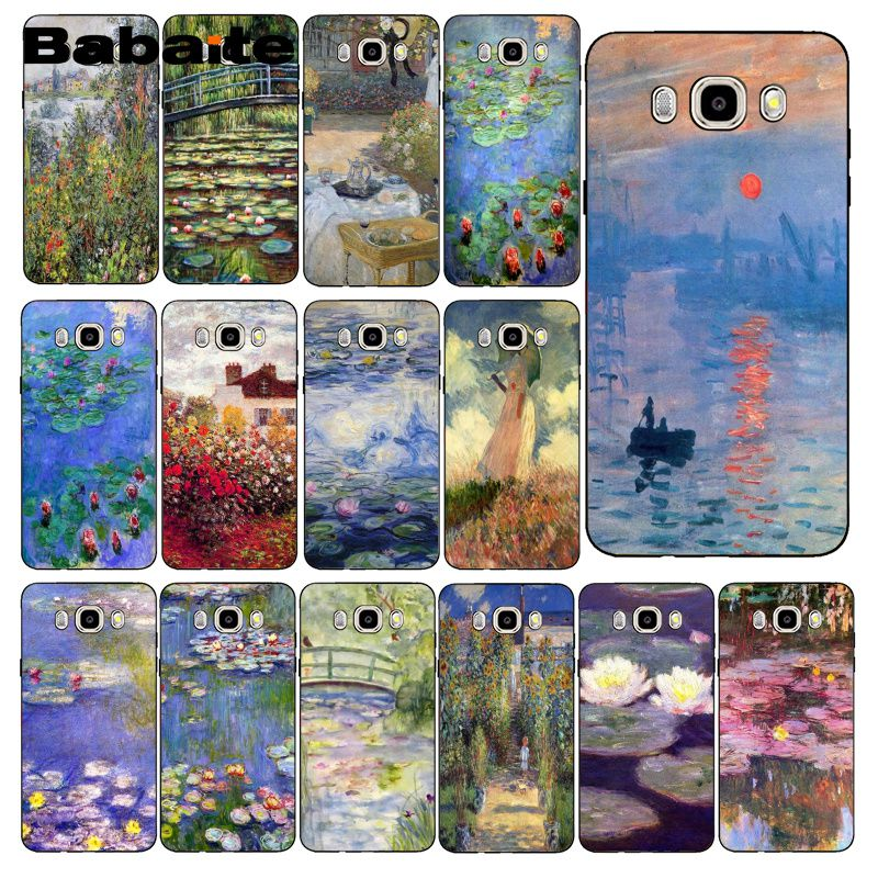 Babaite Claude Monet Garten Lotus Brücke Telefon Fall Zurück Abdeckung Für Samsung Galaxy J7 J6 J8 J4 J4Plus J7 DUO j7NEO J2 J5 Prime