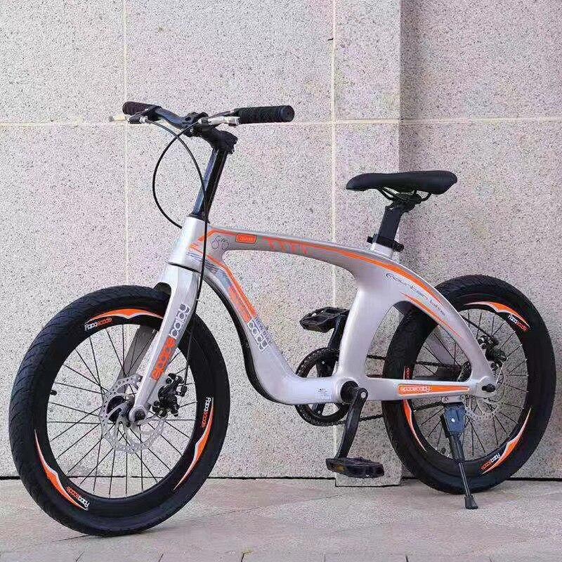 Купить с кэшбэком 2020 New Magnesium Alloy Bicycle 20-Inch Mountain Bike Double Disc Brake Single Speed Middle School Student Pedal Bicycle bike