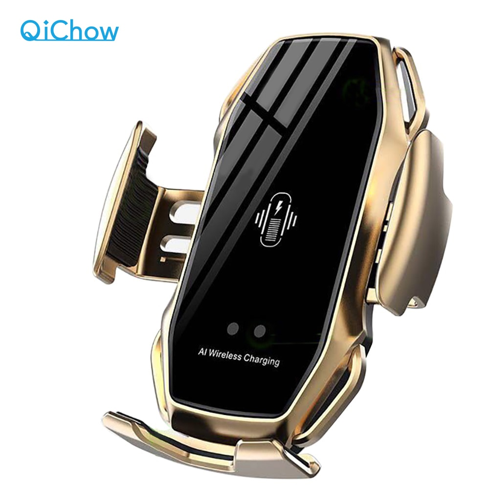 A5 10W Wireless Car Charger Automatic Clamping Fast Charging Phone Holder Mount Car for iPhone 11 Hu