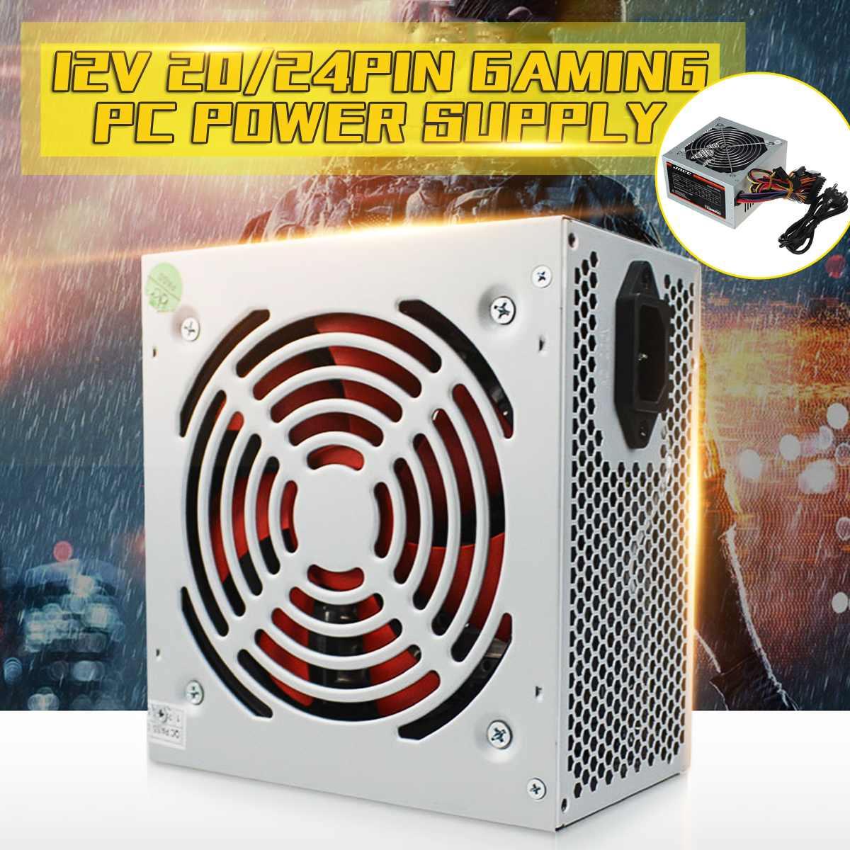 LEORY Max 550 Вт блок питания Пассивный PFC тихий вентилятор ATX 20/24pin 12В 2,0 ПК компьютер SATA игровой ПК источник питания