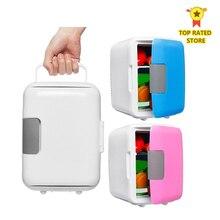 Double usage 4L voiture & maison réfrigérateurs Ultra silencieux à faible bruit voiture Mini réfrigérateurs voyage congélateur refroidissement boîte de chauffage réfrigérateur