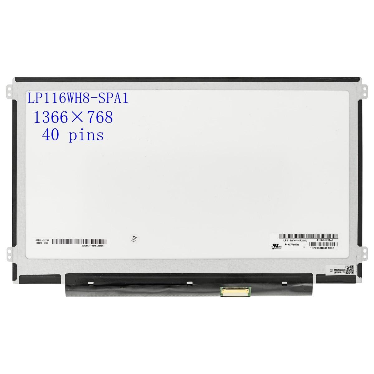 Recambio de pantalla de matriz lcd de 11,6 pulgadas, LP116WH6-SLA1 LP116WH6 (SL)(A1),...