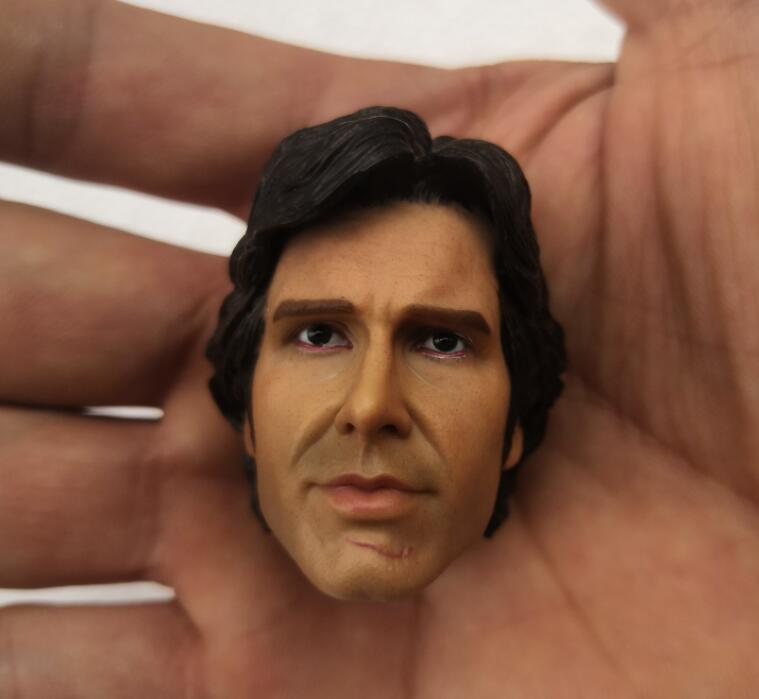"""1/6 Scale Harrison Ford Head Sculpt HanSolo Head Carving For 12"""" Action Figure Body"""