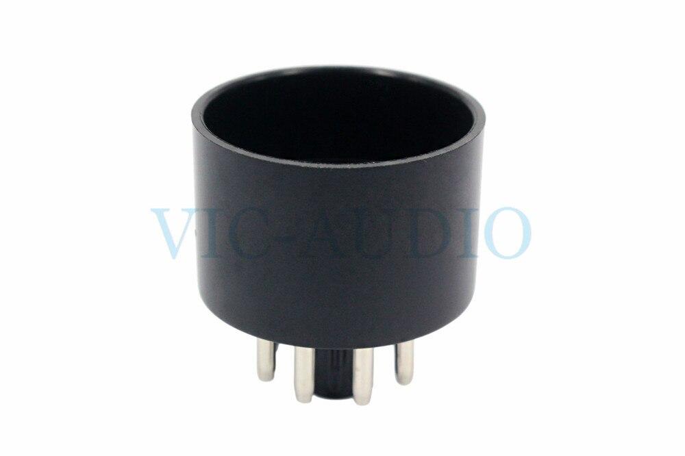 2 pçs diy áudio oito pés de elétron base do tubo para 6l6 6n9p 6n8p 6v6 el34 6p3p tubo vácuo baquelite soquete frete grátis