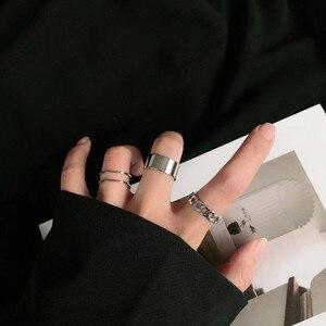 Модные Простые Дизайнерские винтажные кольца anillos серебряного цвета для женщин, ювелирные изделия, корейские кольца, 2020