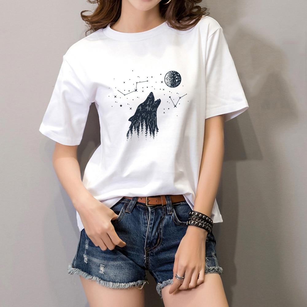 fashion instagram Model O-neck t shirt summer short Sleeve top Funny Design Print t shirt for women COYICHENOL