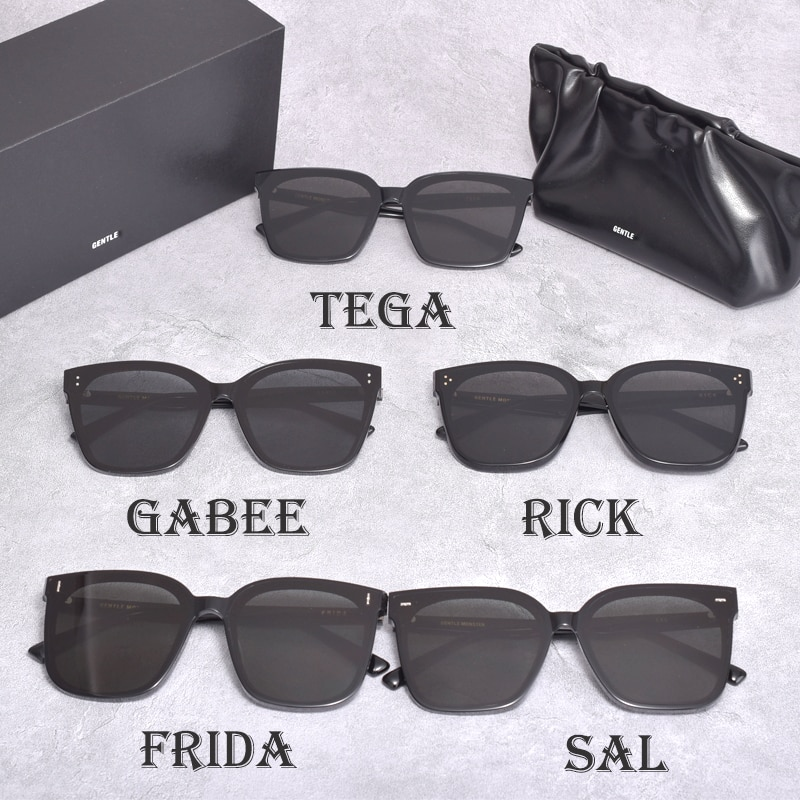 2021Korea news Style GENTLE sunglasses Women Men SAL FRIDA RICK TEGA and GABEE Acetate Polarized Sun