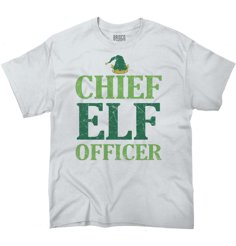Chief Elf oficial camisa divertida Santa Claus regalo de Navidad Cool camiseta Cool Casual pride camiseta hombres Unisex nueva camiseta de moda