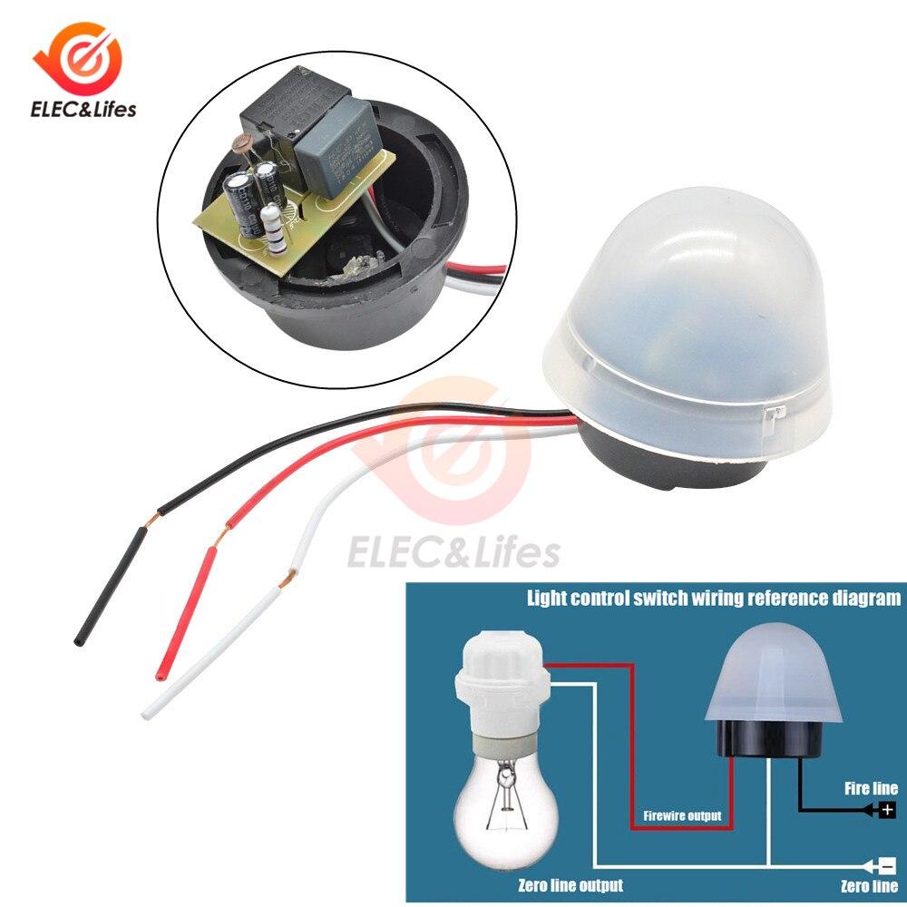 Interruptor de control de luz AS-20 a prueba de lluvia 110V 220V 12V foto Control interruptor automático On Off photopell calle sensor interruptor