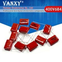 10PCS 400V684J pitch 15MM 0.68UF 680nf 684 400V CBB Polypropylene film capacitor