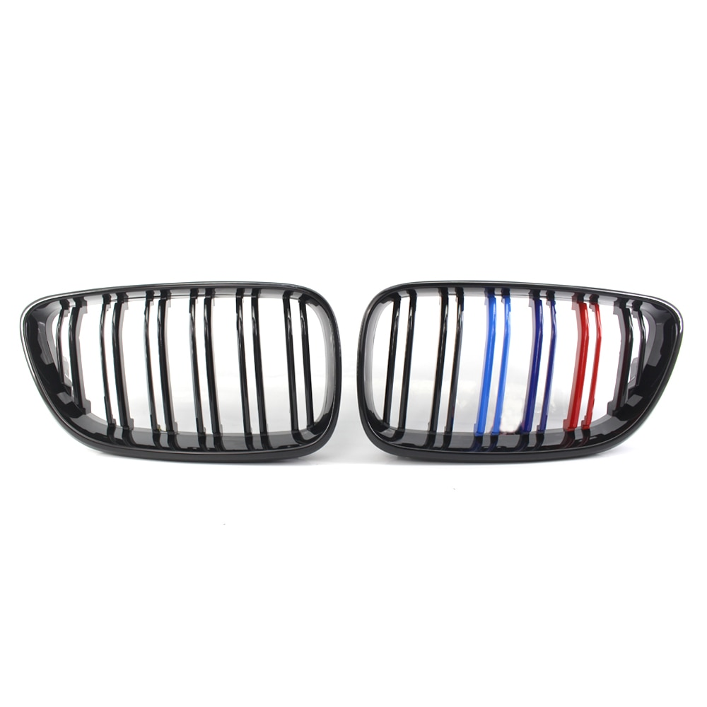 Car Front Hood Kidney Grille Decoration Glossy Black M-color Auto Bonnet Grill For BMW 2 Series F22 F23 2014~2018 Racing Grills
