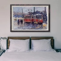 Peinture classique sur soie personnalisee T174  retro rouge  cadeau de noel  112