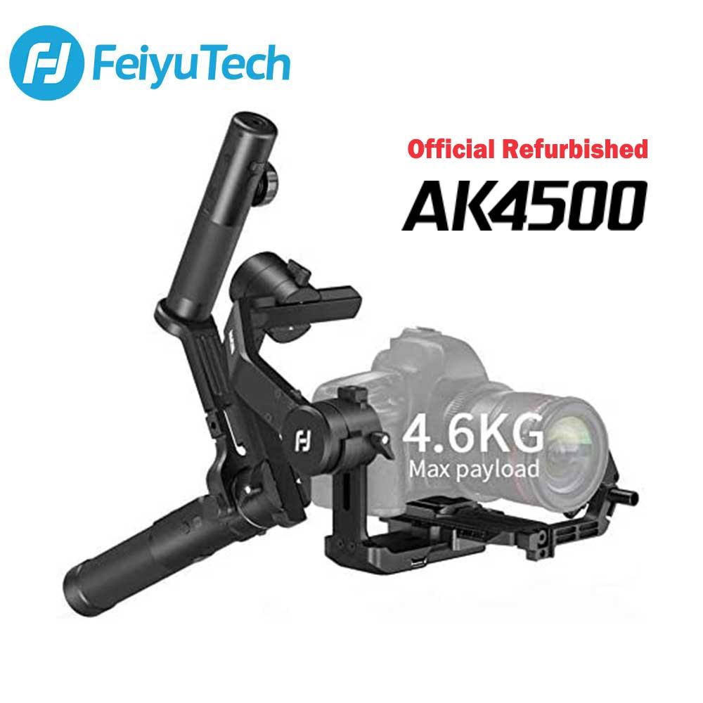 FeiyuTech مجددة AK4500 AK3-Axis يده Gimbal DSLR كاميرا استقرار عدة مع متابعة Fcous لسوني/باناسونيك/كانون