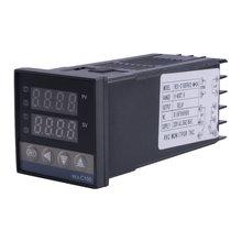 Relé Dual de REX-C100, salida LED, Digital PID, controlador inteligente de temperatura, Kits con Sensor de sonda tipo K 0 ~ 400 Celsius