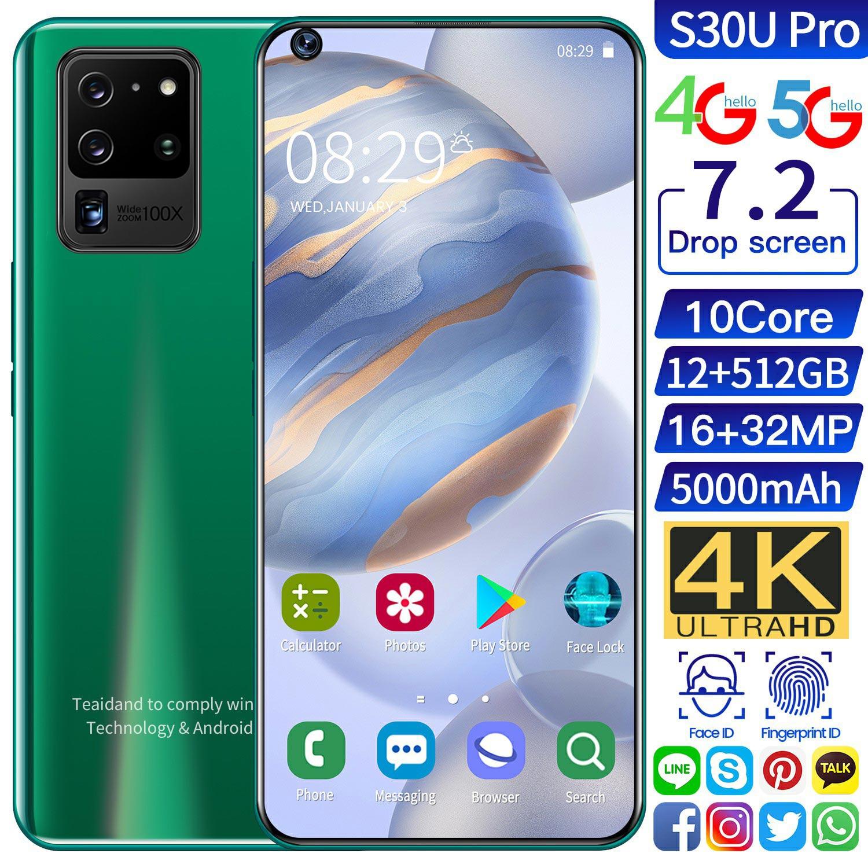 Galay S30 Ultra 7.2 Inch Telefon 4G 5G Octa Core Andorid 10.0 Smartphones 12GB RAM 512GB ROM Mobile Phones Global Version