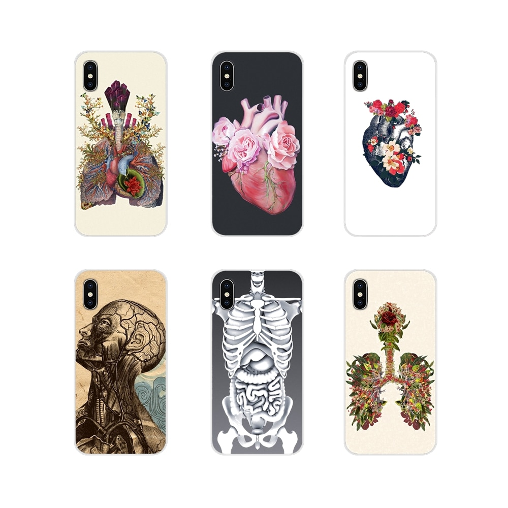 Soft Transparent Shell Cover art Heart Nature Human Anatomy For Xiaomi Redmi 4A S2 Note 3 3S 4 4X 5