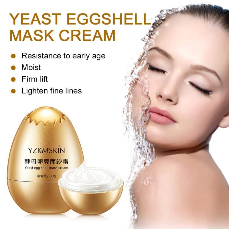 Маска для яиц крем Дрожжевая маска для яиц глубоко питает кожу увлажняющий крем улучшает текстуру кожи маска для сна уход за кожей TSLM1        АлиЭкспресс
