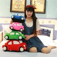 30 55cm simulation car beetle plush pillow kawaii bug car plush toy creative birthday gift for children home decoration ornament
