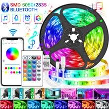BESTOPE Bluetooth LED Strip Lights 20M RGB 5050 SMD nastro flessibile impermeabile RGB LED Light 5M 10M Tape Diode DC 12V Control