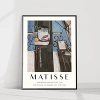 wall art matisse poster printed small blue interior canvas painting home decor for living room modular famous pictures framework