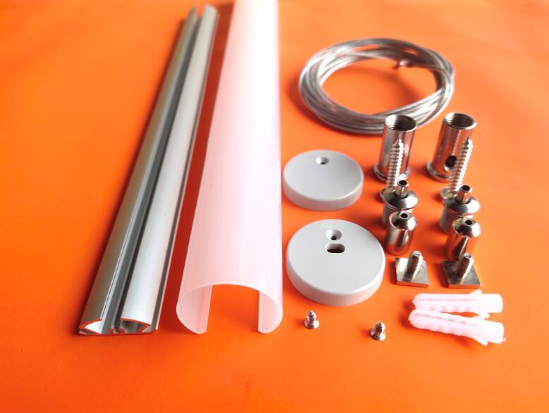 Envío Gratis, luz colgante de 30mm de diámetro, perfil Led de extrusión de aluminio, perfil Led redondo para tubo Led, 2 m/unidad, 30 m/lote