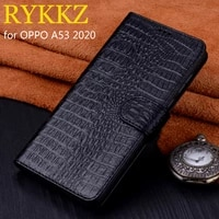 for oppo a53 2020 luxury wallet genuine leather case stand flip card for oppo f17 pro cases hold phone book cover bags