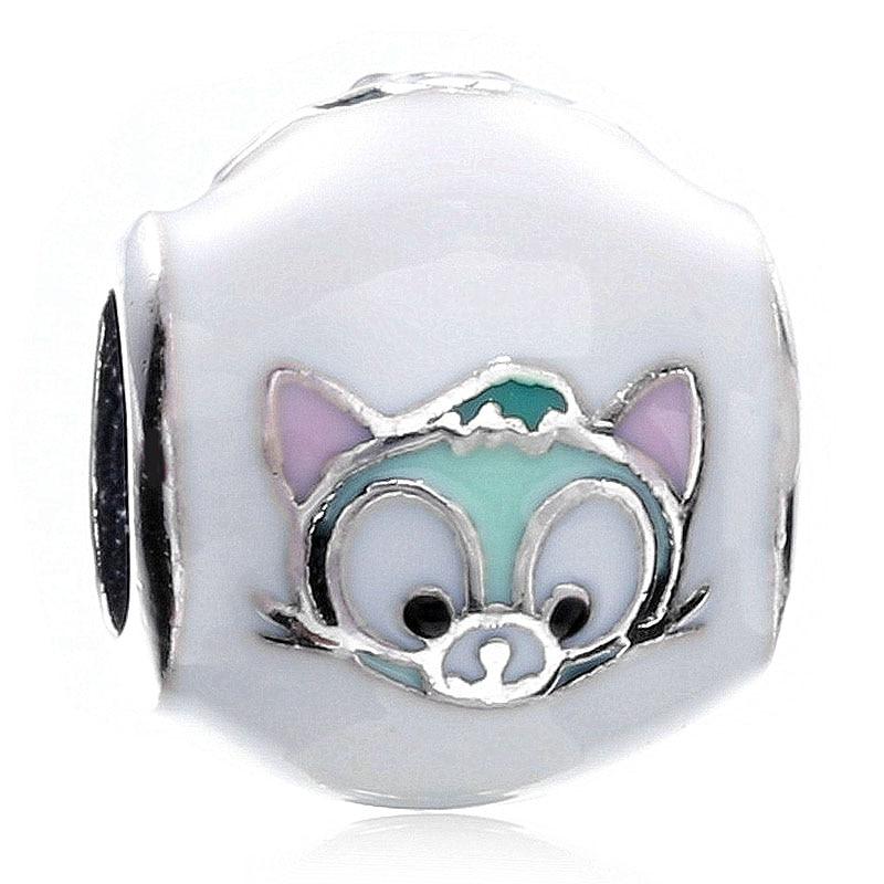 Nueva plata esterlina 925 cuenta con forma de animal encanto Multicolor esmalte Gelatoni bien cuentas de gatos Fit Pandora pulsera brazalete de la joyería de DIY