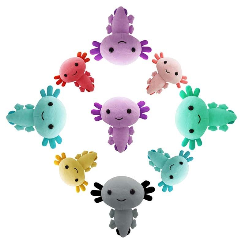 Axolotl плюшевые игрушки, 20 см, животные, Axolotl плюшевые фигурки, игрушки, мягкие куклы, подарки для детей, девочек, подарок на Рождество, день рожд...