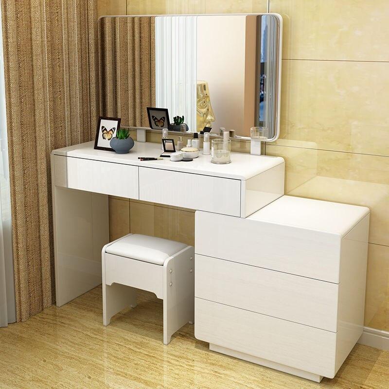 تشكل الجدول الأثاث الغرور الجدول مع أدراج معكوسة مضمد الأثاث غرفة نوم حديثة مضمد أثاث غرفة نوم فاخرة